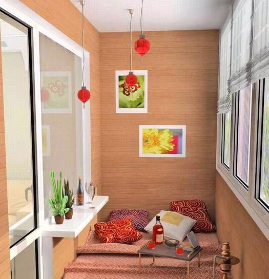 Дизайн совмещенной гостиной с лоджией