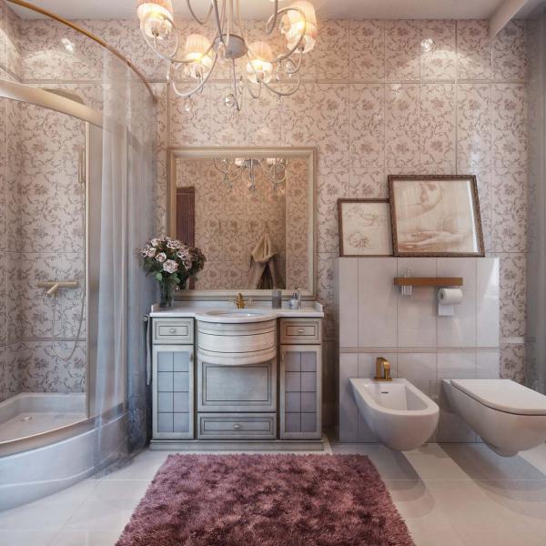 Отделка ванной комнаты стены смеситель айрих купить
