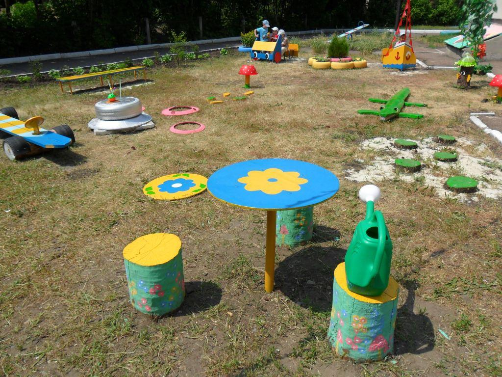 Как обустроить участок в детском саду своими руками