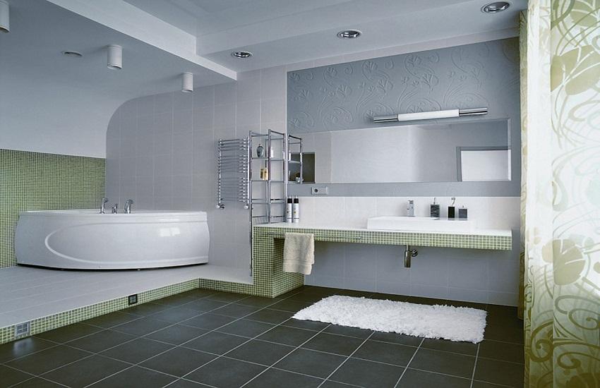 Оформление ванной комнаты: дизайн 70