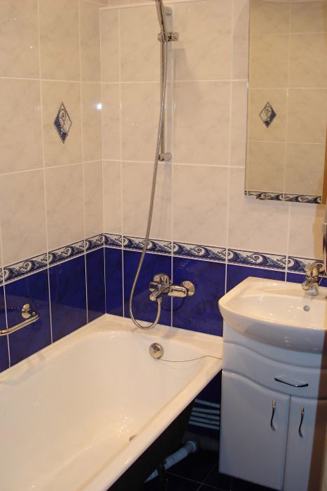 дизайн ванной комнаты в панельном доме