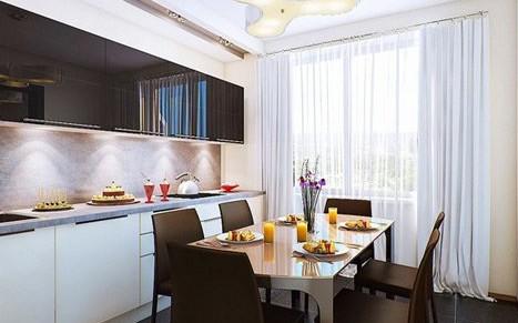 Дизайн кухни 10 кв м квадратной формы