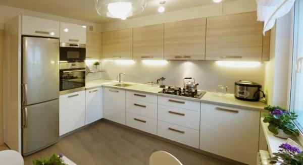 Дизайн кухни 10 м прямоугольной формы