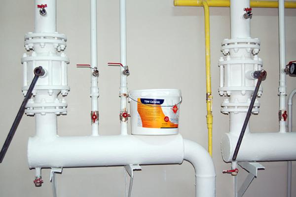 Для небольших площадей и защиты объектов с высокой температурой краска - одно из наилучших решений