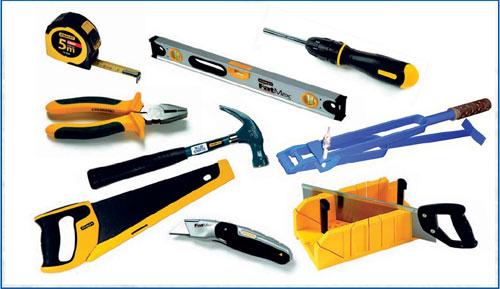 Для всех работ достаточно небольшого набора самых простых инструментов и приспособлений.