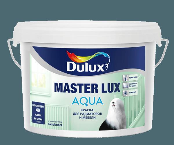 Dulux Master Lux Aqua — качественная глянцевая краска для стен, мебели и других поверхностей