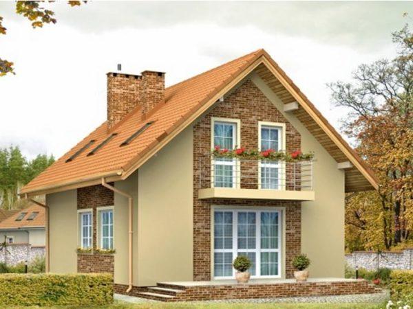Двухскатная конструкция – это наиболее распространенный вид крыш для частных домов