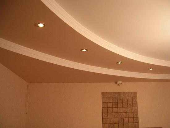 Двухъярусный потолок из ГКЛ.