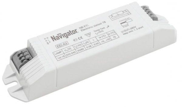 Электронный пускорегулирующий аппарат. Он размещается в корпусе светильника и служит куда дольше лампы.