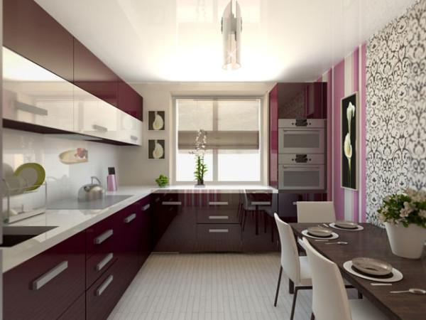 Эстетичное оформление кухни, имеющей площадь 10 м2