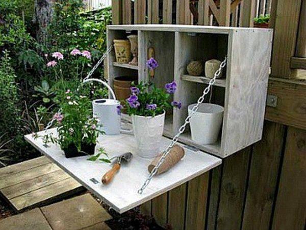 Интересная идея хранения садовых инструментов