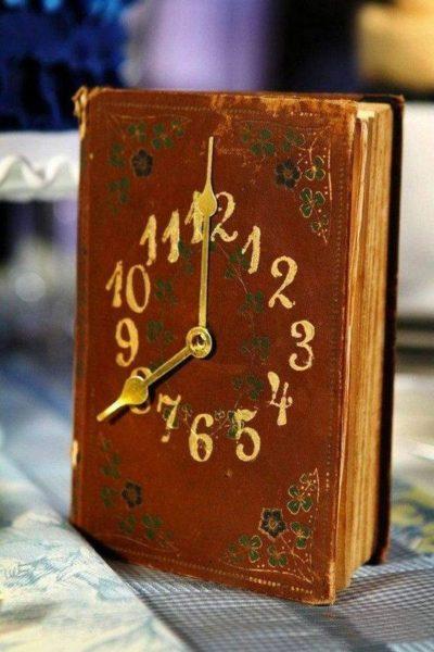 Часы из книги - подарок номер один для любителей чтения