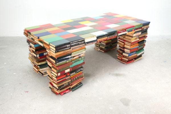 Кофейный столик из книг