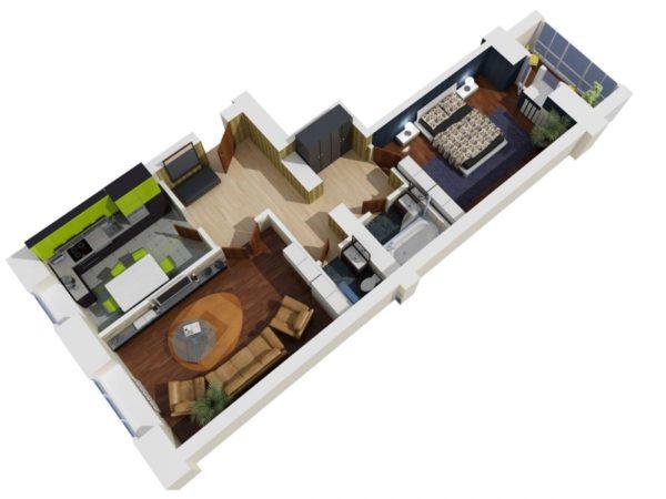Планировка квартиры «распашонка»