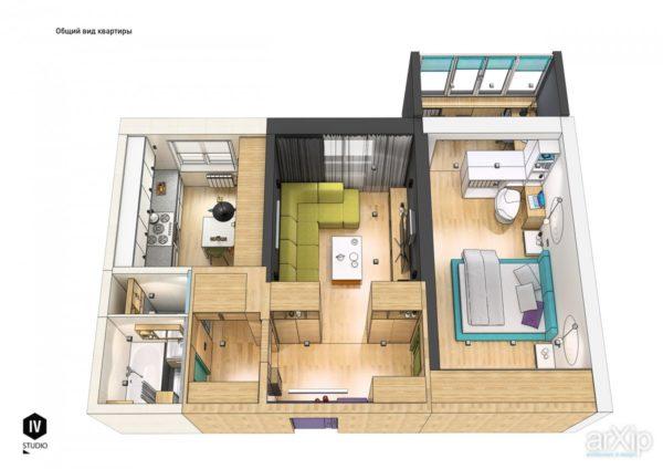 Линейная планировка квартиры