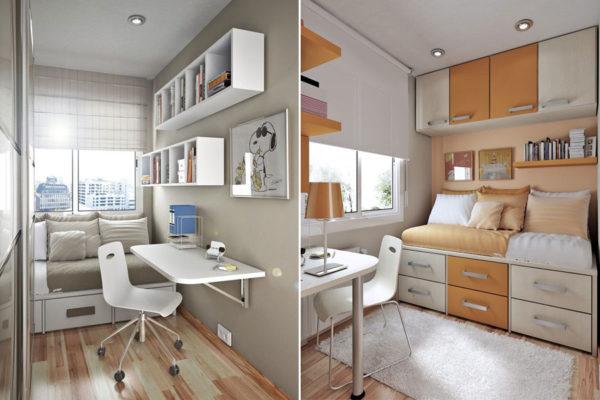 Правильная расстановка мебели в небольшой комнатке