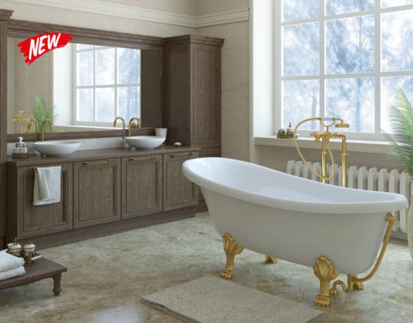 Отдельностоящая ванна на ножках - это воплощение элегантности, но также неудобств