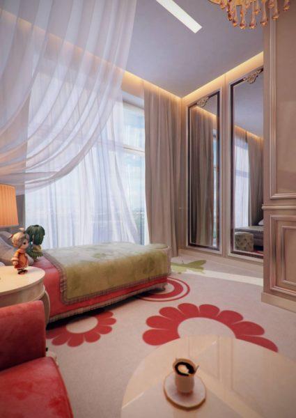 Для зеркал в детской комнате действует такое же правило, как и для взрослых спален