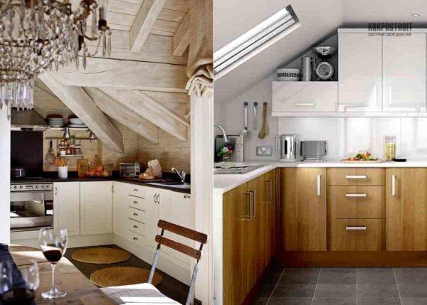 Кухня на мансарде - потрясающий выбор
