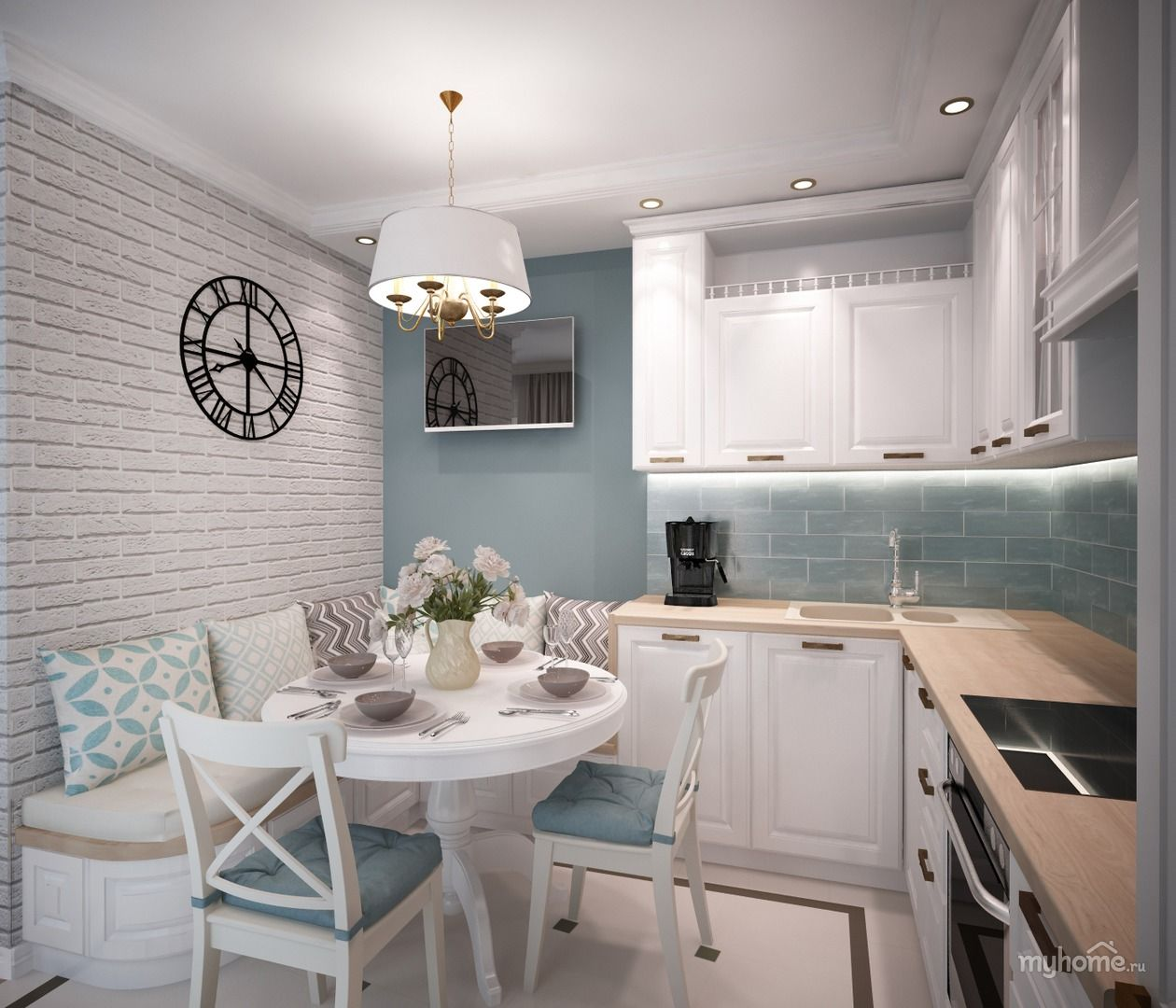 Небольшая уютная угловая кухня