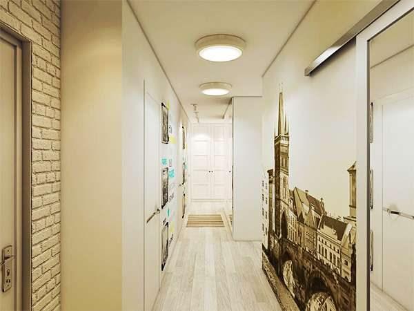 Фотообои в интерьере коридора