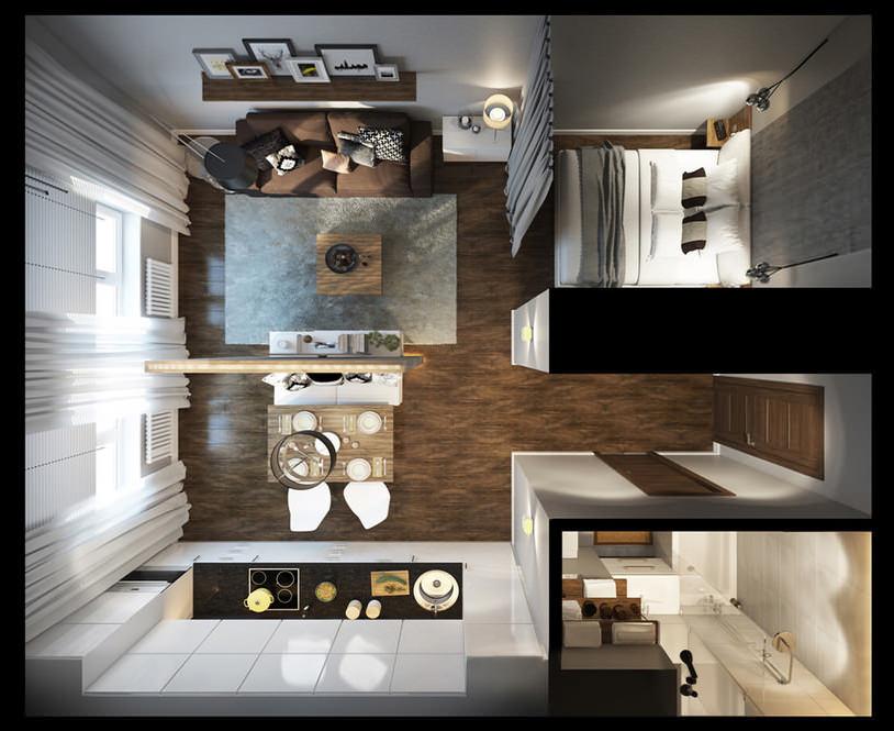 Проект однокомнатной квартиры
