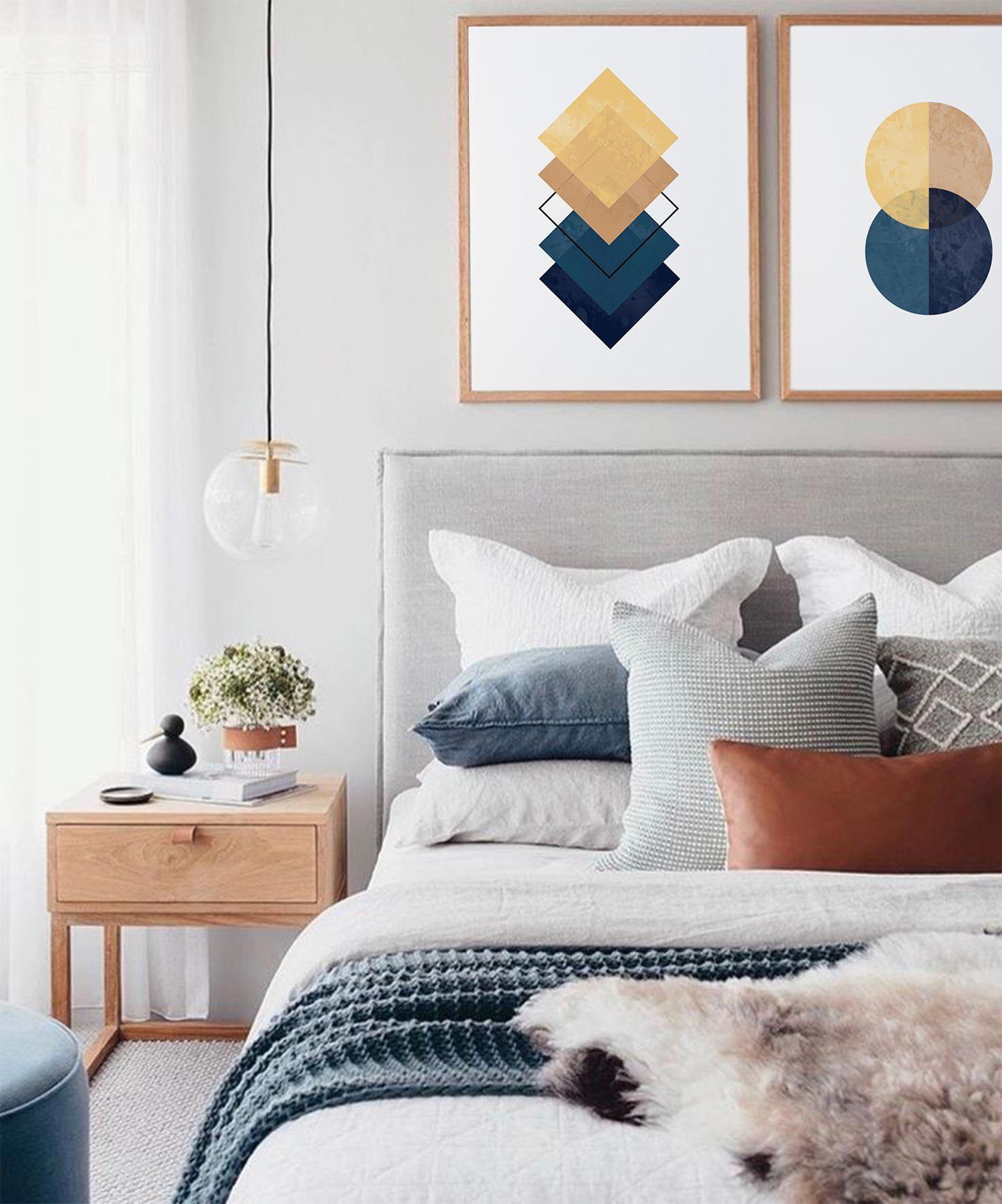 Небольшая, но стильная спальня