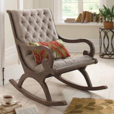 Кресло-качалка в интерьере гостиной комнаты