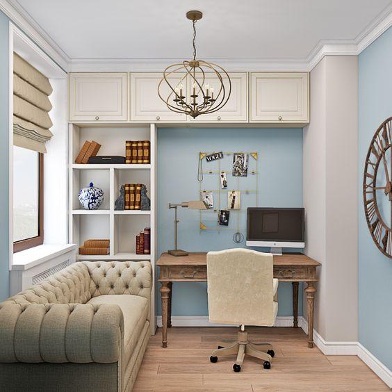 Пример освещения в интерьере домашнего рабочего места