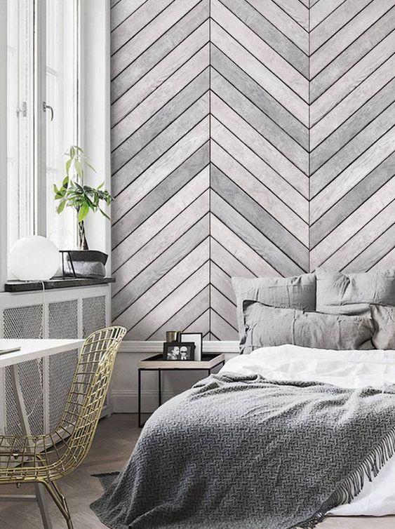 Декорирование стен панелями в спальне