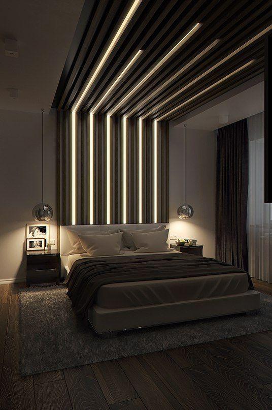 Панели с подсветкой в интерьере квартиры