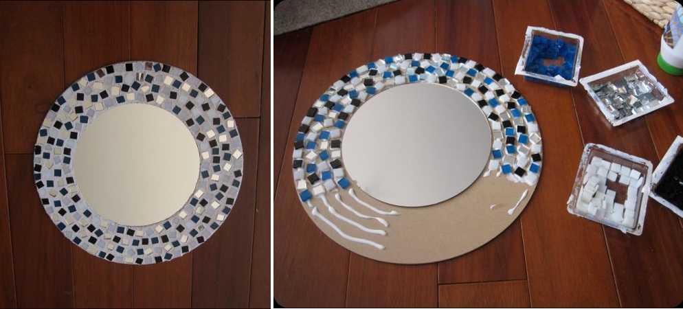 Мозаика - самый простой способ декорирования зеркала