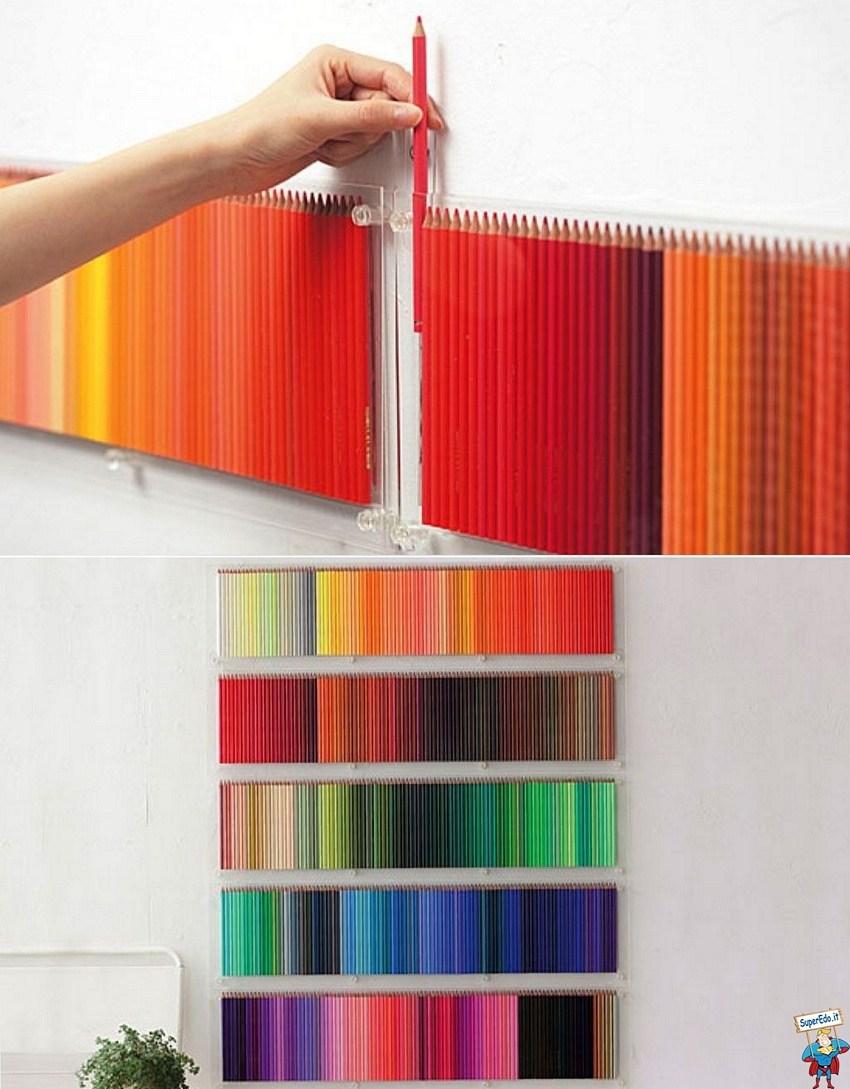 Панно из цветных карандашей