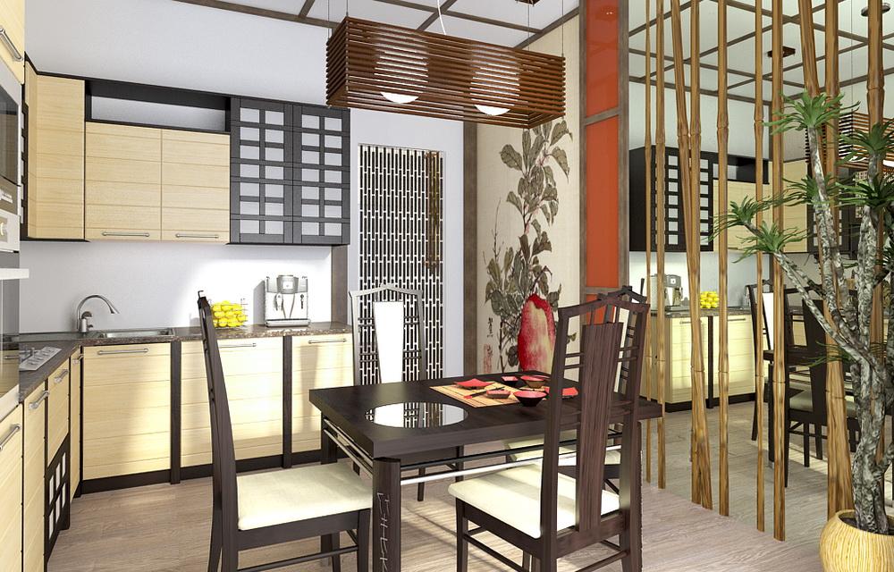 Кухня, выполненная в китайском стиле