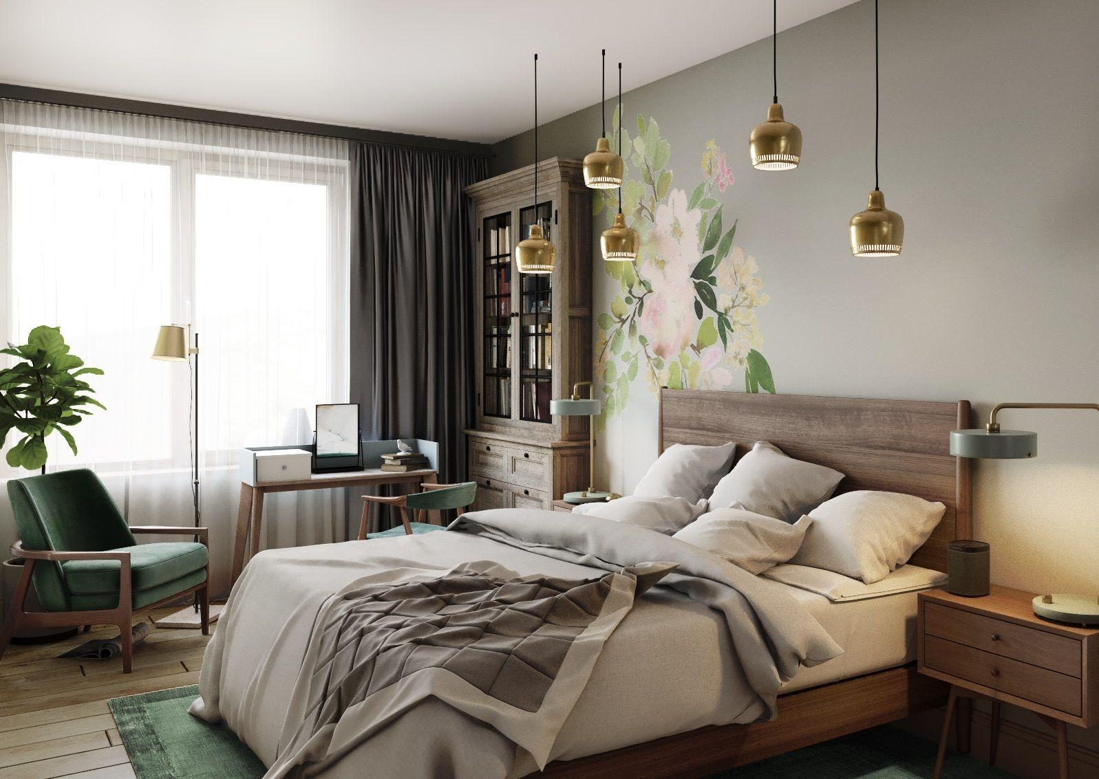 Лаконичный интерьер спальни для одинокой девушки