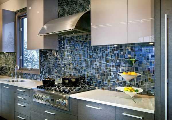 Мозаичная отделка кухни