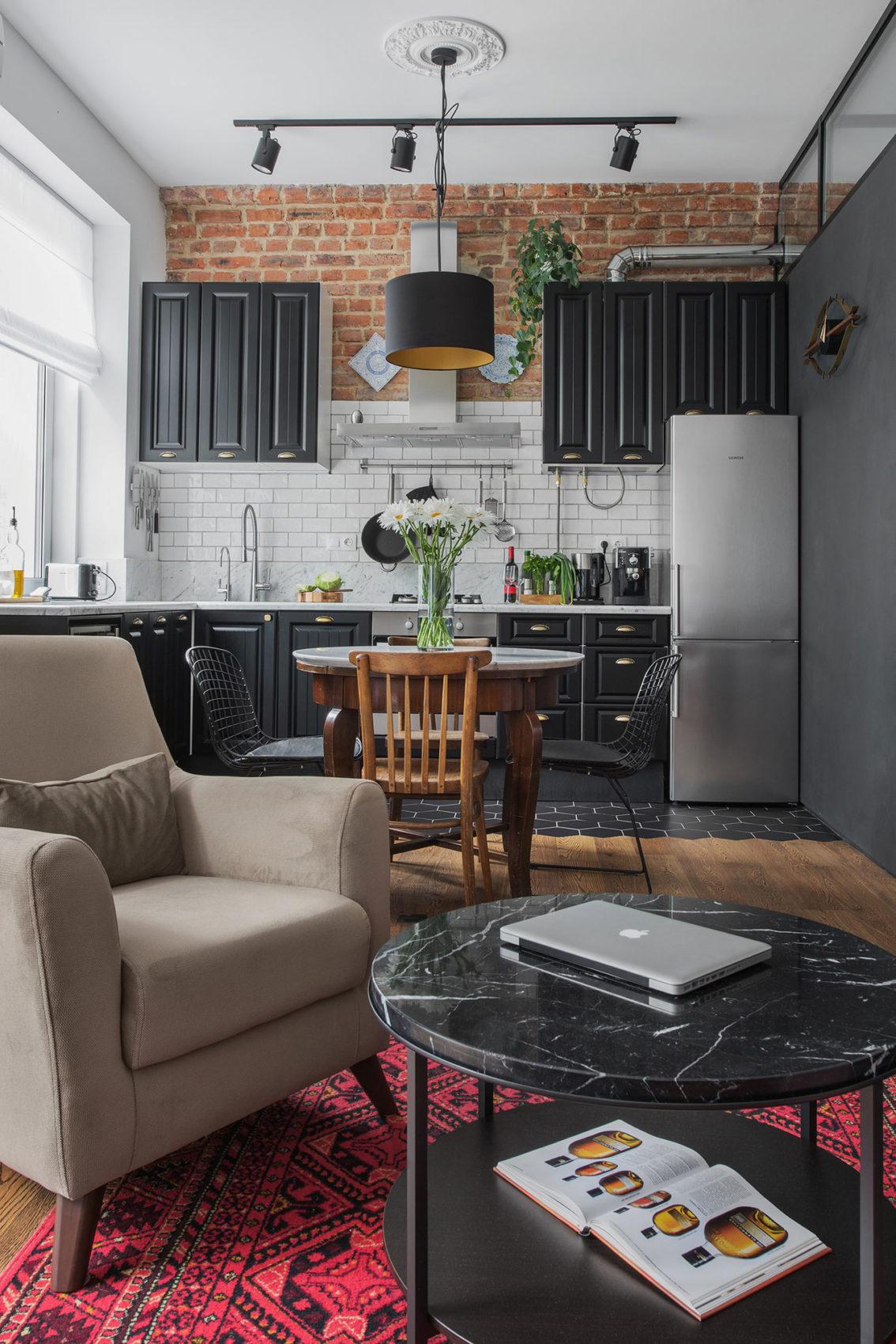 Интерьер небольшой, но стильной квартиры