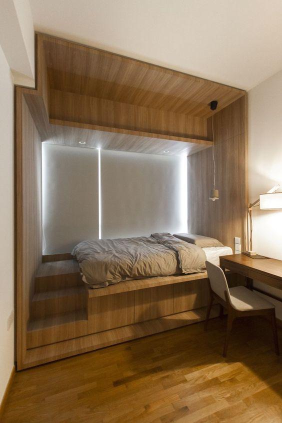 Подиум в качестве спального места