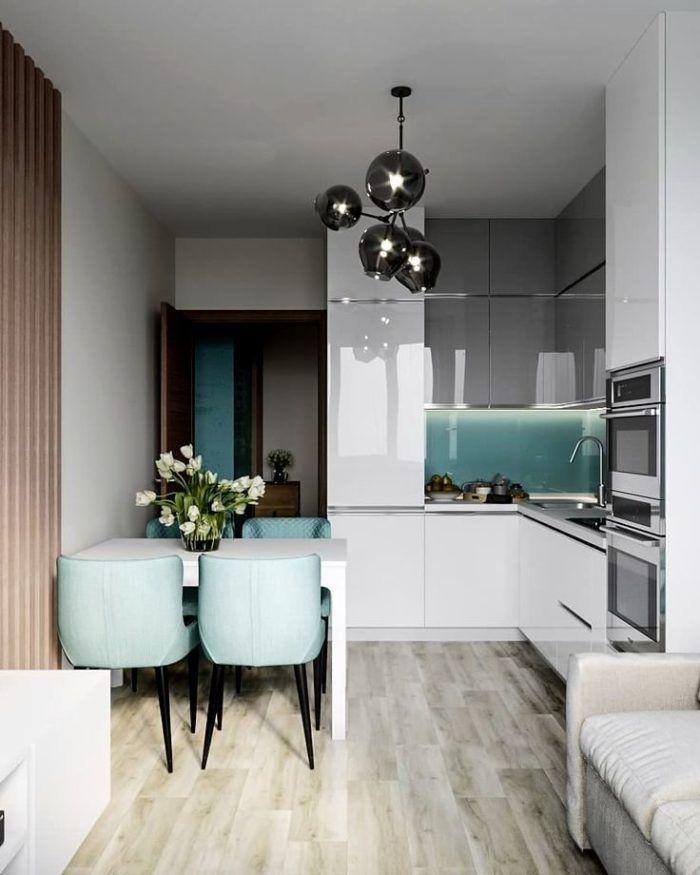 Глянцевый фасад кухни - это невероятно эффективно и красиво