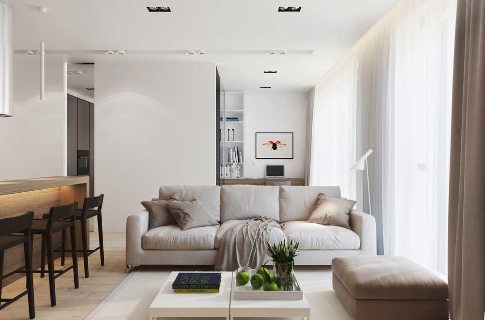 Светлая отделка интерьера квартиры