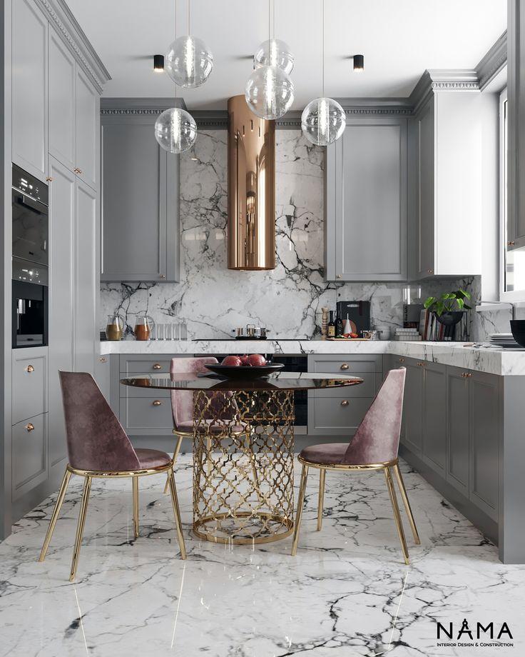 Красивый и практичный интерьер кухни