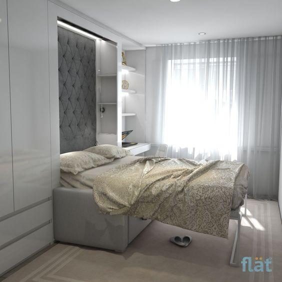 Кровать-трансформер в интерьере небольшой комнаты