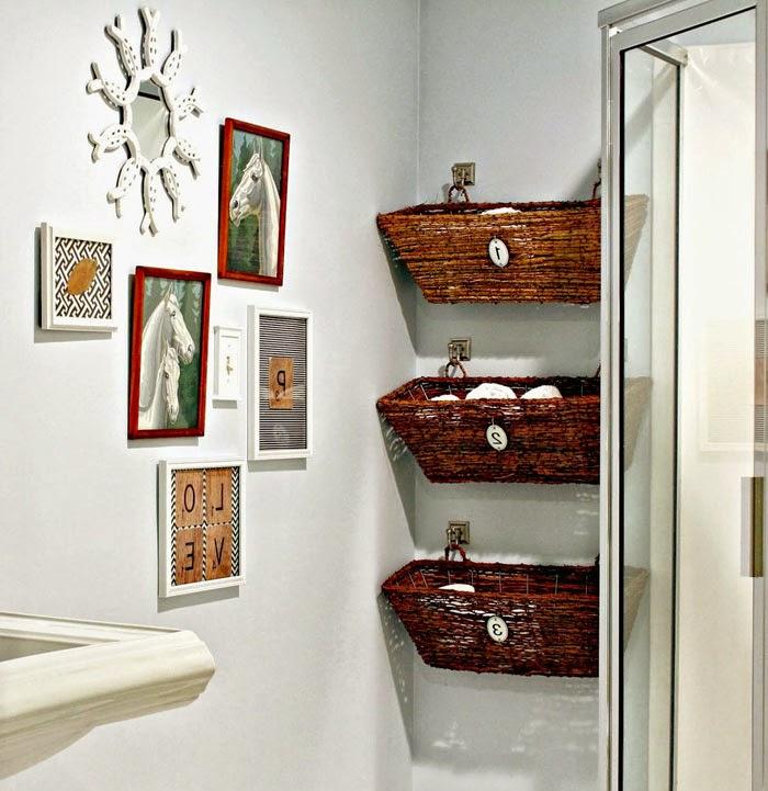 Плетеные корзины - отличная функциональная вещь для хранения различных мелочей