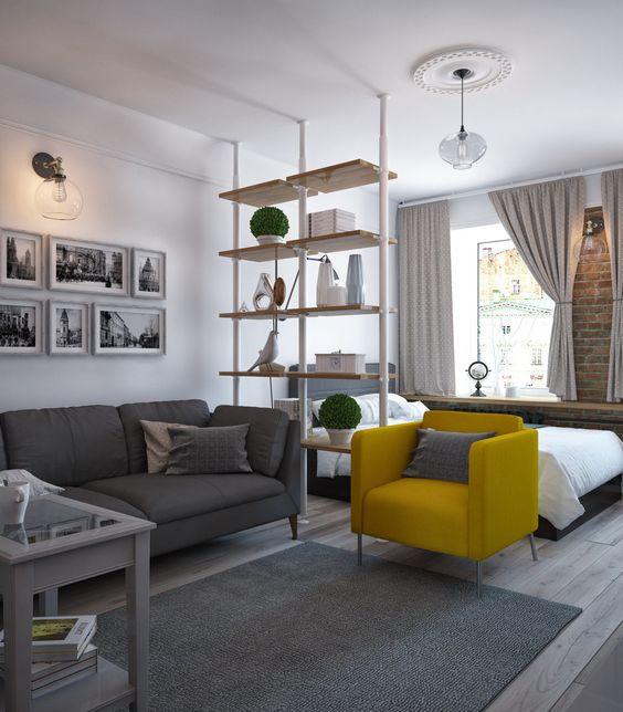 Зонирование комнаты - отличное решение для владельцев малогабариток