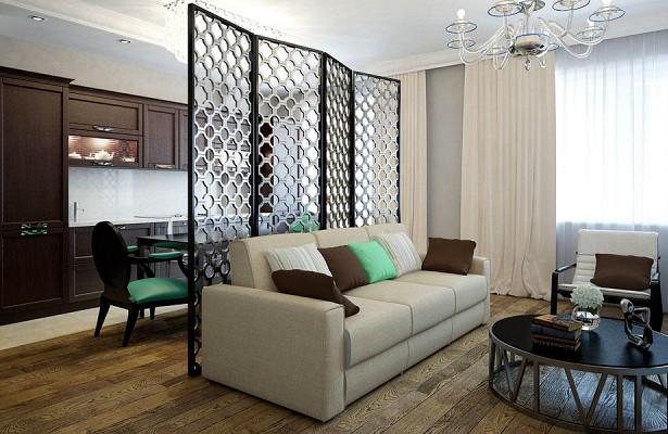 Декоративная ширма в интерьере квартиры