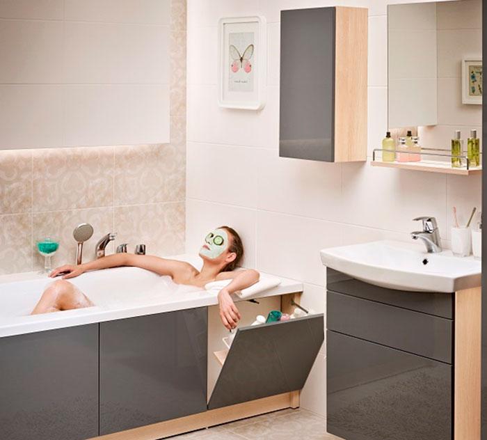 Интерьер функциональной ванной комнаты