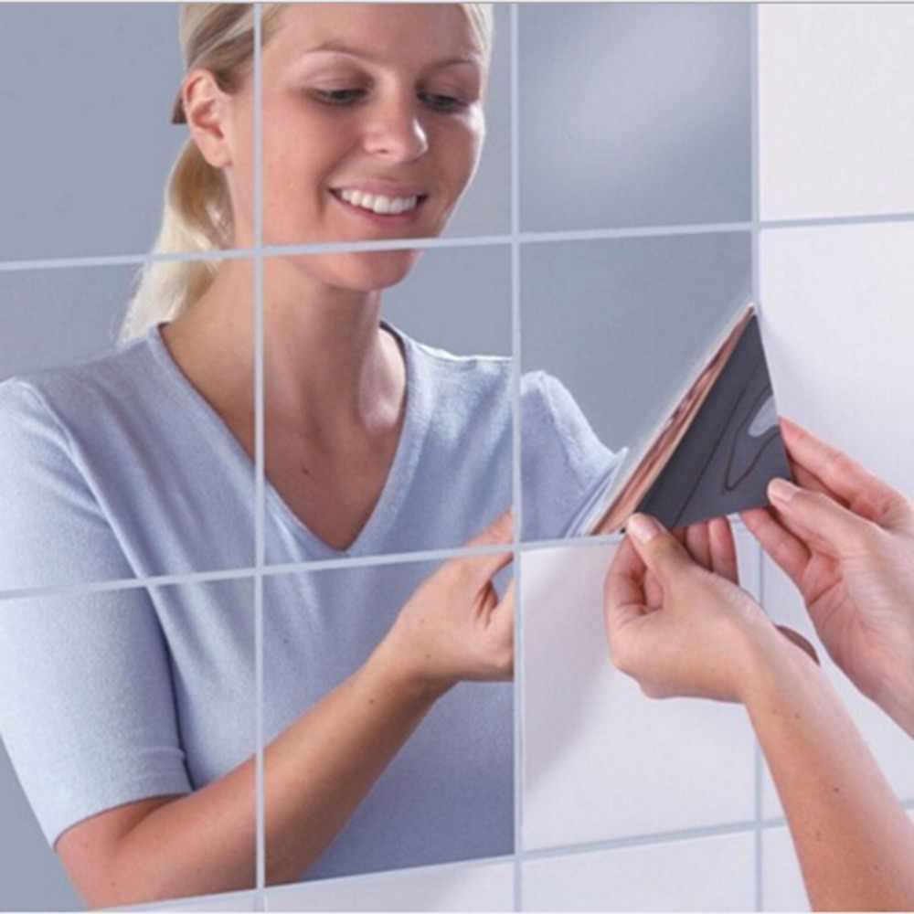 Зеркальные наклейки - отличная вещь для ванной комнаты