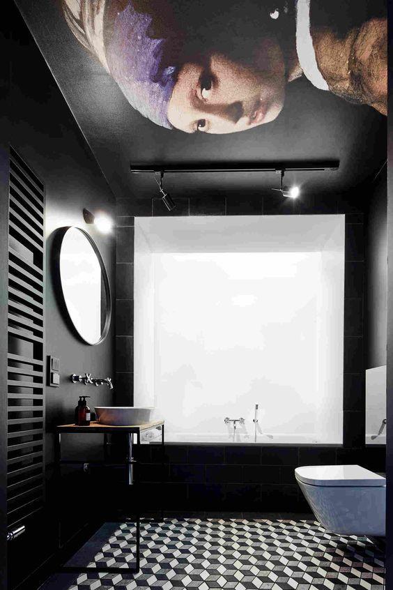 Темная отделка - это вдохновение для дизайнеров