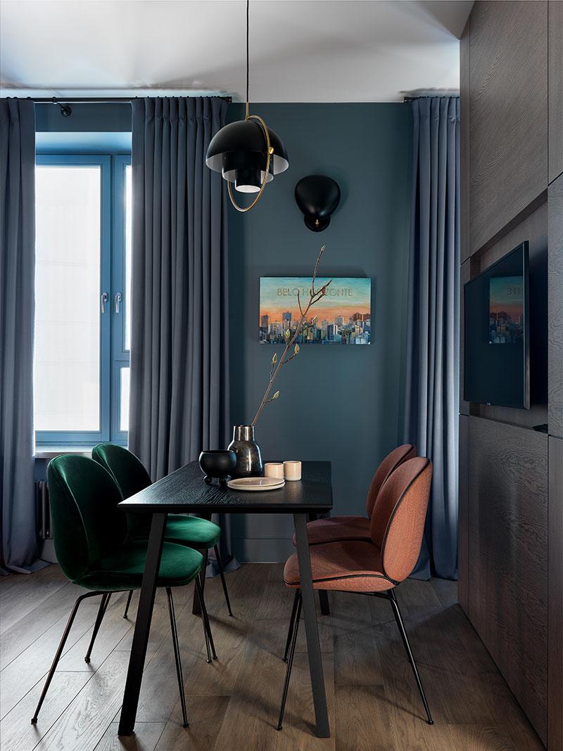 Темное оформление приберегите для больших и просторных квартир