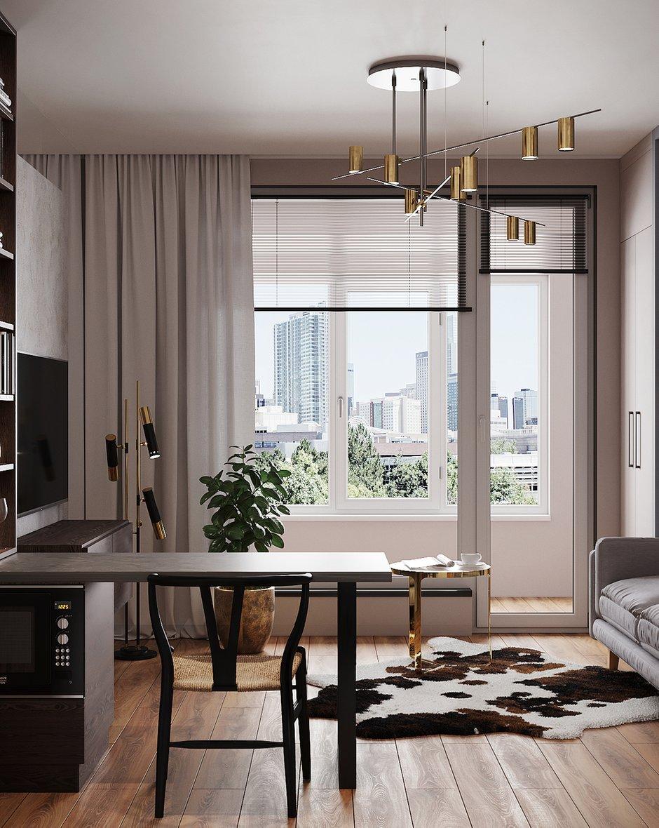 Интерьер основной комнаты в квартире